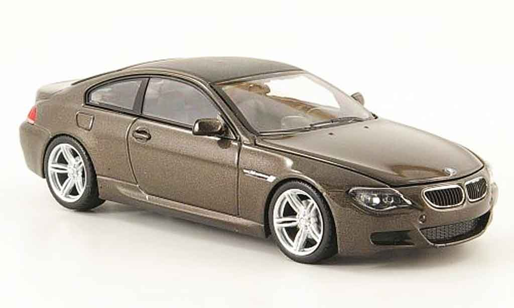 Bmw M6 E63 1/43 Minichamps Coupe marron 2007 modellino in miniatura