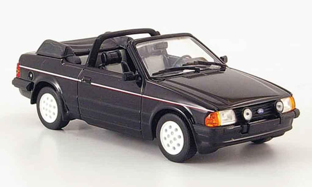 Ford Escort XR3 1/43 Minichamps Cabriolet noire 1983 MK3 miniature