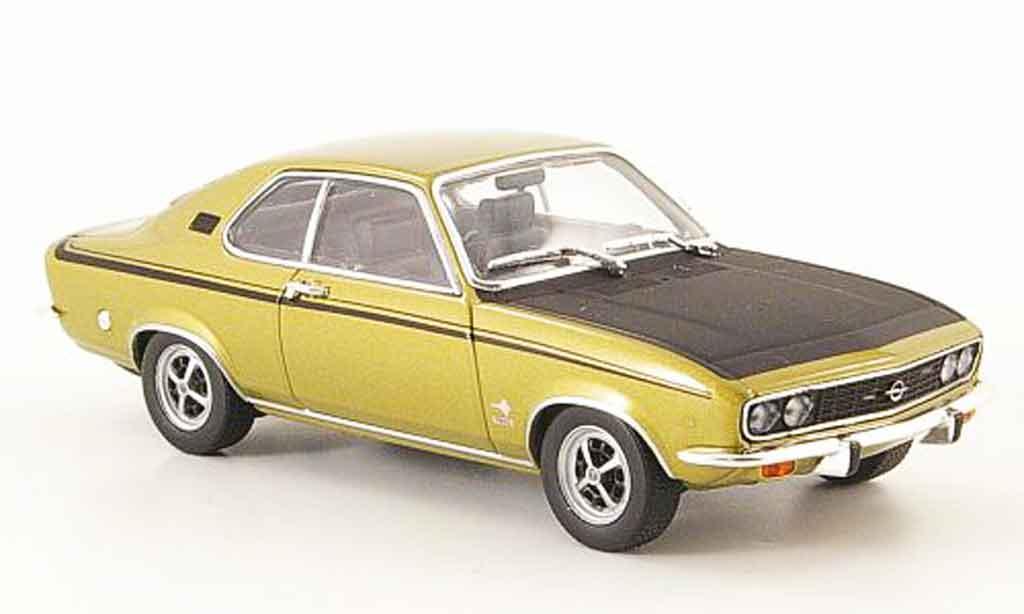 Opel Manta A 1/43 Minichamps sr or noire 1972 miniature
