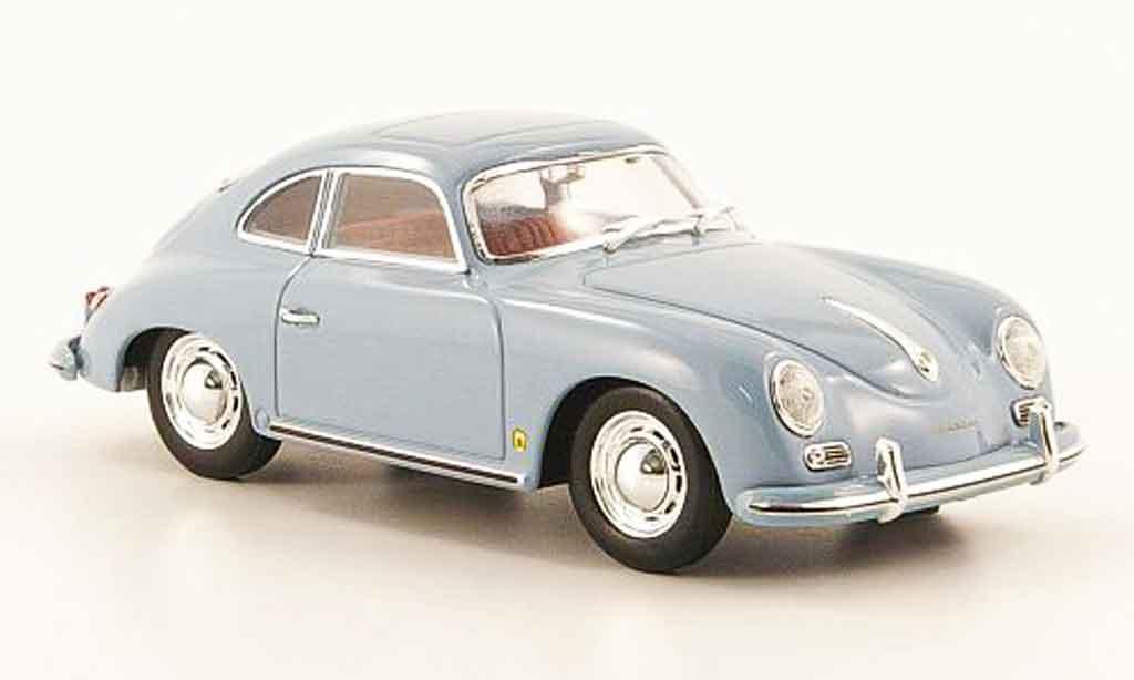 Porsche 356 1959 1/43 Minichamps A Coupe grise bleu miniature