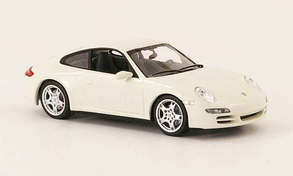 Porsche 997 4S 1/43 Minichamps Carrera  Coupe white 2005 diecast model cars