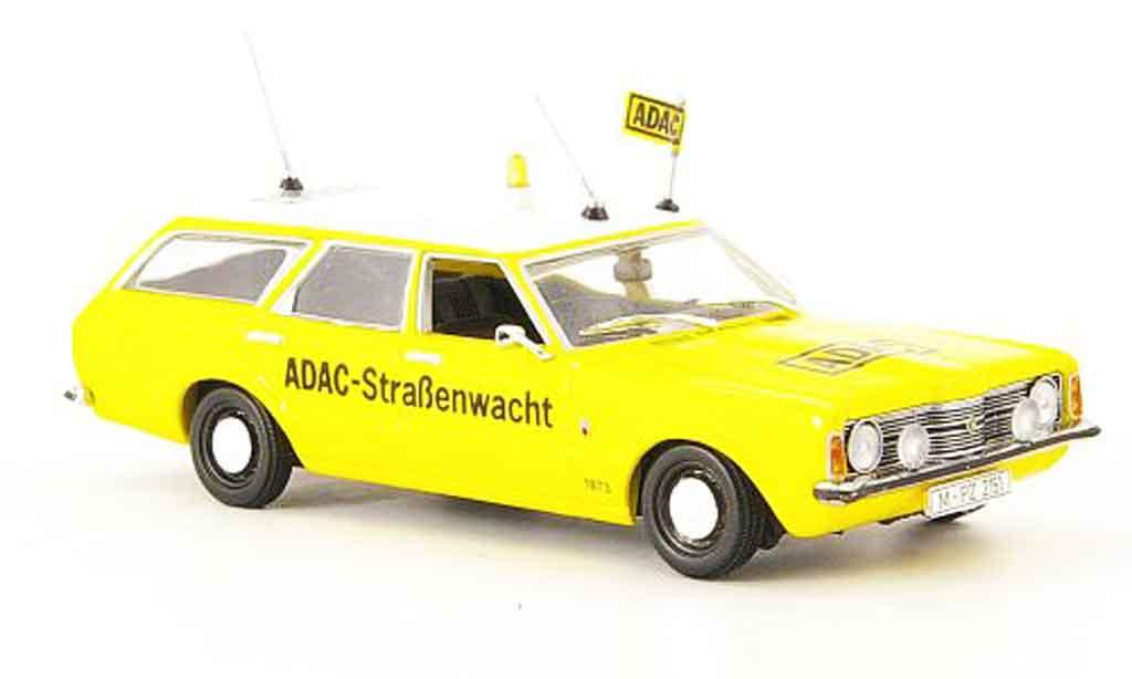 Ford Taunus 1970 1/43 Minichamps (TC) Turnier jaune ADAC miniature