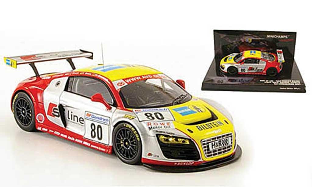 Audi R8 LMS 1/43 Minichamps No.80 S Line VLN Nurburgring 2009 miniatura