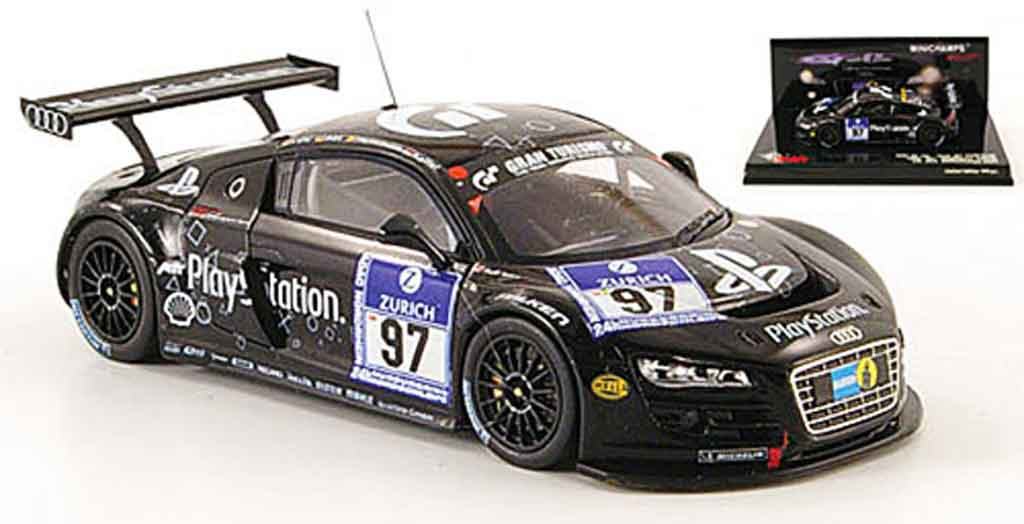 Audi R8 2009 1/43 Minichamps 2009 LMS No.97 Playstation 24h Nurburgring miniature