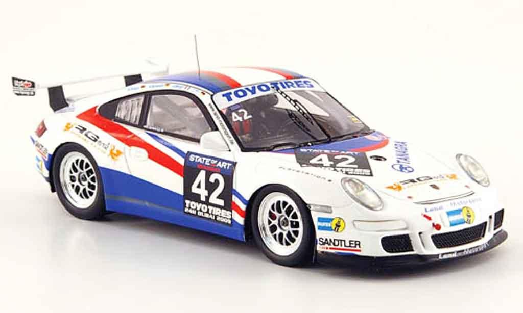 Porsche 997 GT3 Cup 2009 1/43 Minichamps No.42 24h Dubai miniatura