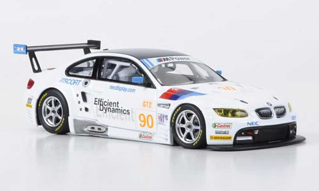 Bmw M3 E92 1/43 Minichamps GT2 No.90 Rahal Letterman Racing ALMS 2009 miniature