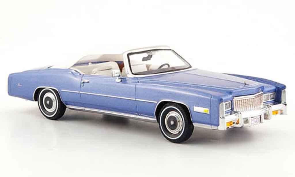 Cadillac Eldorado 1/43 Premium X convertible/cabriolet bleu blanche 1976 miniature