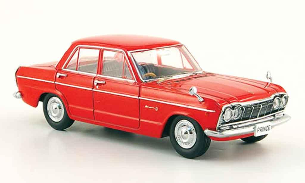Nissan Skyline Prince 1/43 Ebbro 2000 GTB rosso 1965 miniatura