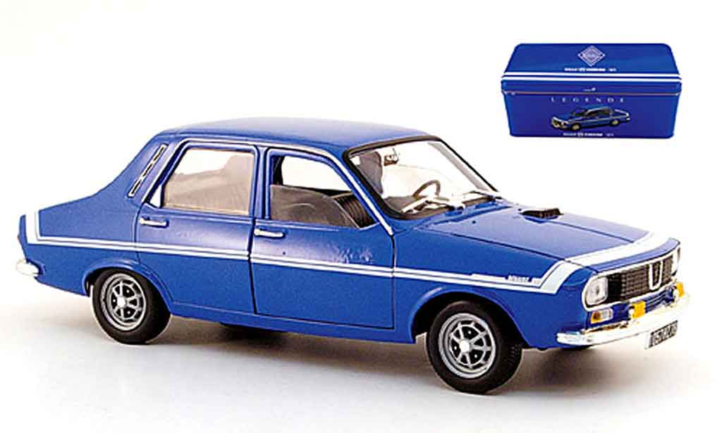 Renault 12 Gordini 1/18 Solido bleu in blechbox diecast model cars