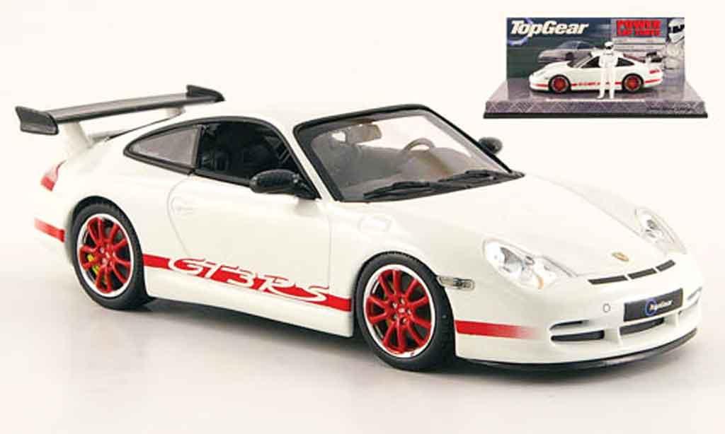 Porsche 996 GT3 RS 1/43 Minichamps white avec Figur The Stig diecast model cars