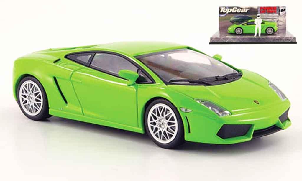 Lamborghini Gallardo LP560-4 1/43 Minichamps green avec figur the stig diecast