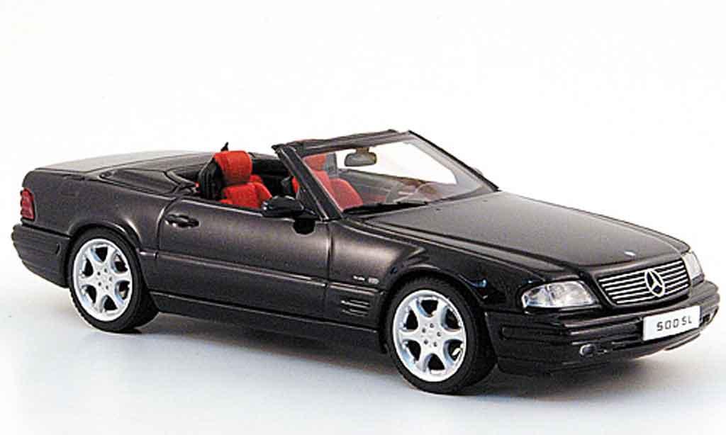 Mercedes Classe SL 500 1/43 Autoart 500 noire Final Edition miniature
