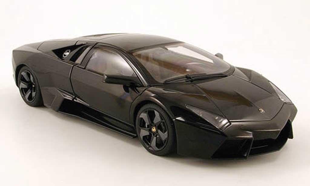 Lamborghini Murcielago Reventon 1/18 Autoart noir miniatura