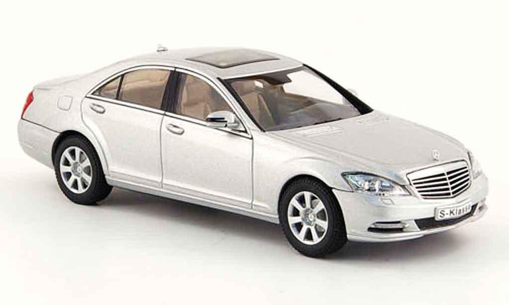 Mercedes Classe S 1/43 Autoart S 500 grey metallisee Facelift (MOPF) 2009 diecast model cars
