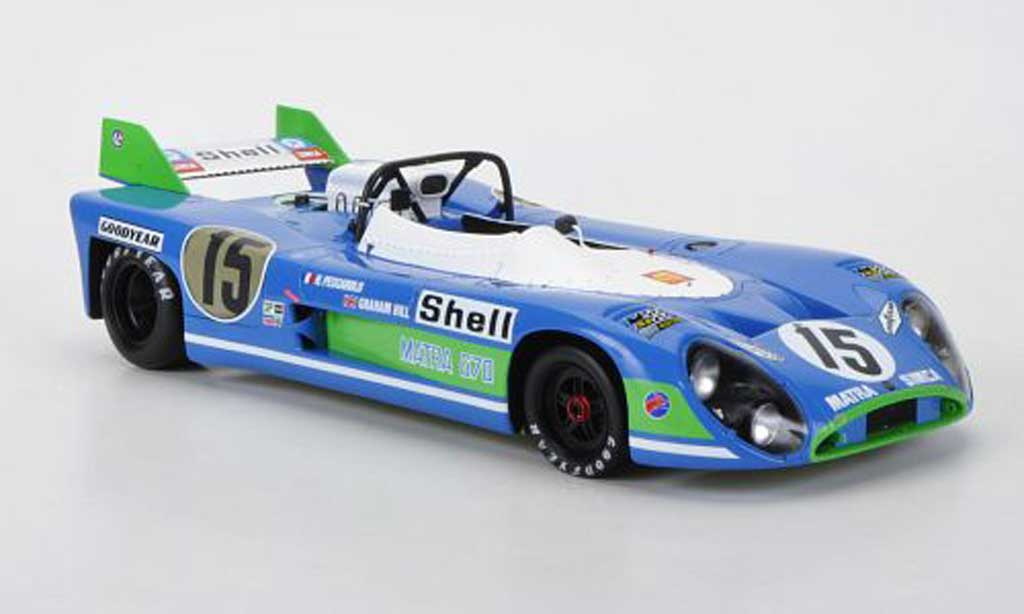 Simca Matra 1/18 Spark MS 670 No.15 Pescarolo/Hill 24h Le Mans 1972 diecast