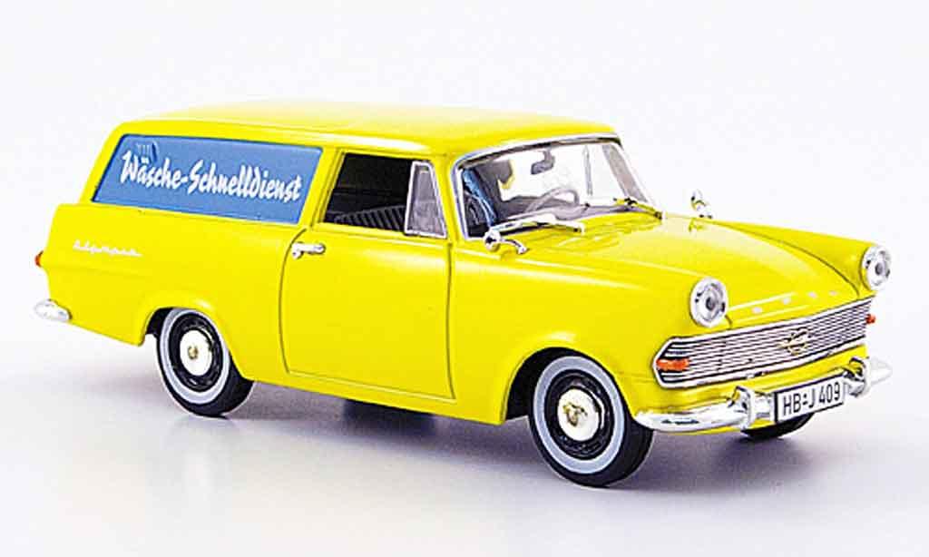 Opel Rekord 1/43 Starline p 2 caravan jaune wasche schnelldienst 1960 miniature