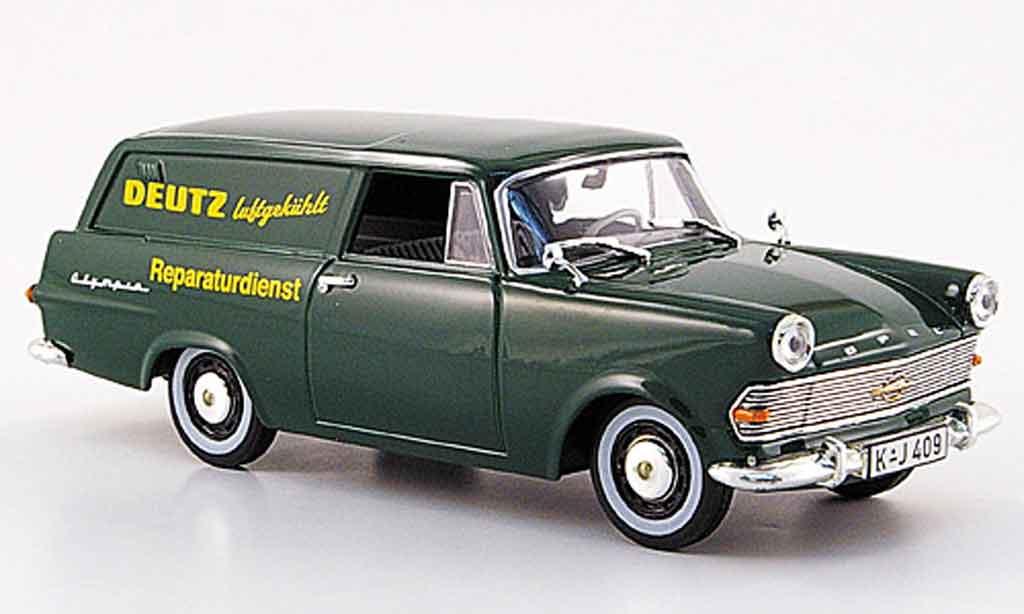 Opel Rekord 1/43 Starline p 2 caravan verte deutz reparaturservice 1960 miniature