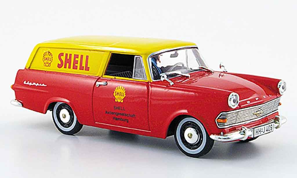 Opel Rekord 1/43 Starline p 2 caravan rouge jaune s 1960 miniature