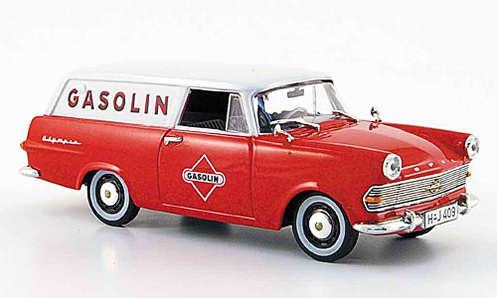 Opel Rekord 1/43 Starline p 2 caravan rouge blanche gasolin 1960 miniature