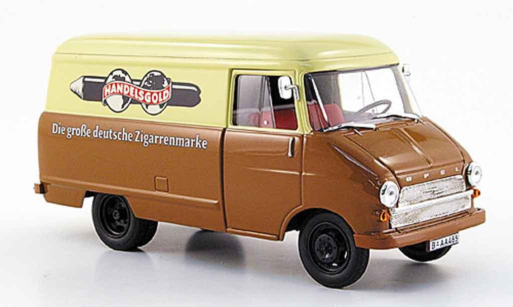Opel Blitz 1/43 Starline kastenwagen a beige marron handelsor 1960 miniature