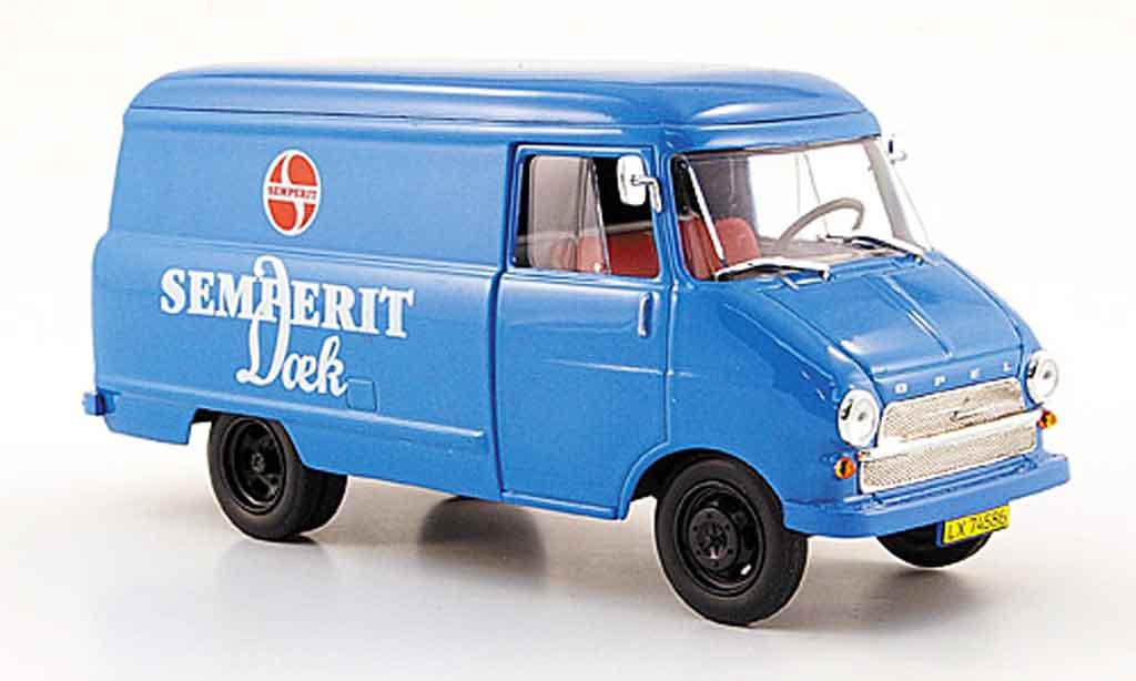 Opel Blitz 1/43 Starline kastenwagen a bleu semperit 1960 miniature