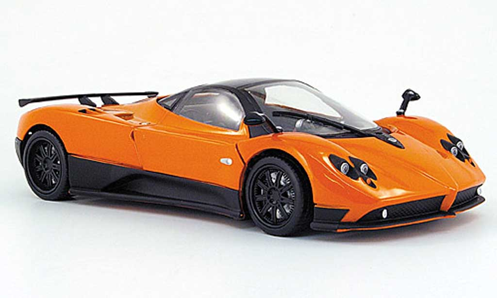 Pagani Zonda F 1/18 Mondo Motors orange miniature