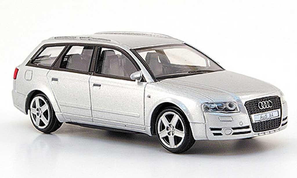 Audi A4 Avant 1/43 Mondo Motors grise miniature