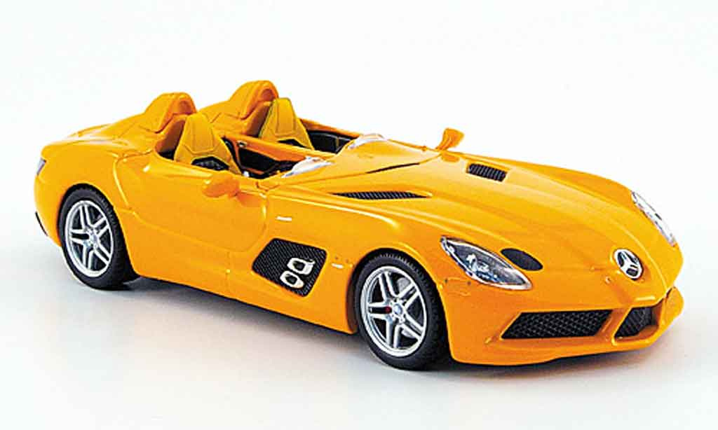 Mercedes SLR 1/43 Minichamps McLaren Stirling Moss (Z 199) orange 2009 miniature