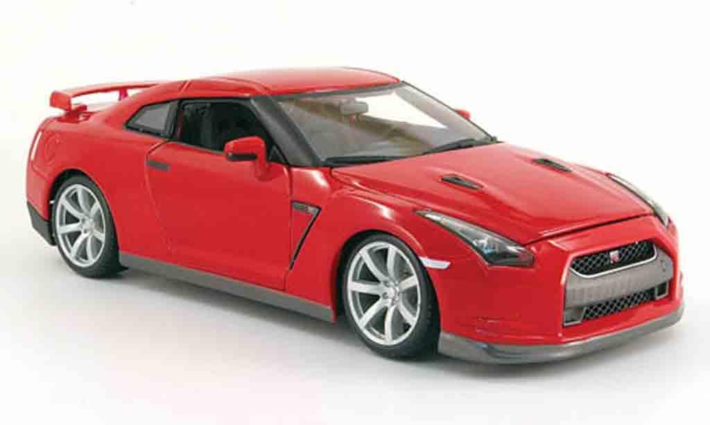 Nissan Skyline R35 1/18 Burago gt-r rouge 2009 miniature