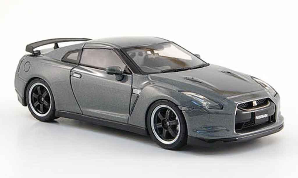 Nissan Skyline R35 1/43 Ebbro JGTC GT R Spec V grise 2009 miniature