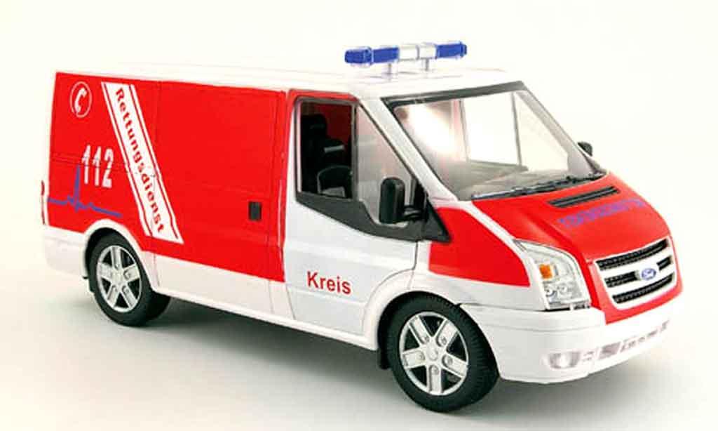 Ford Transit 1/18 Powco kasten pompier rettungsdienst miniature