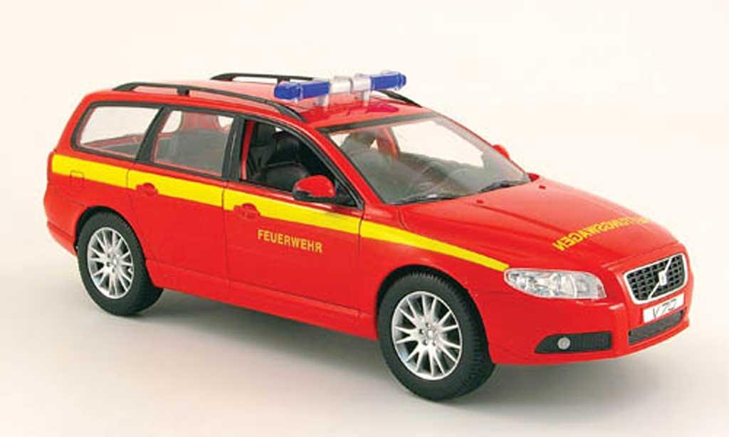Volvo V70 1/18 Powco pompier miniature