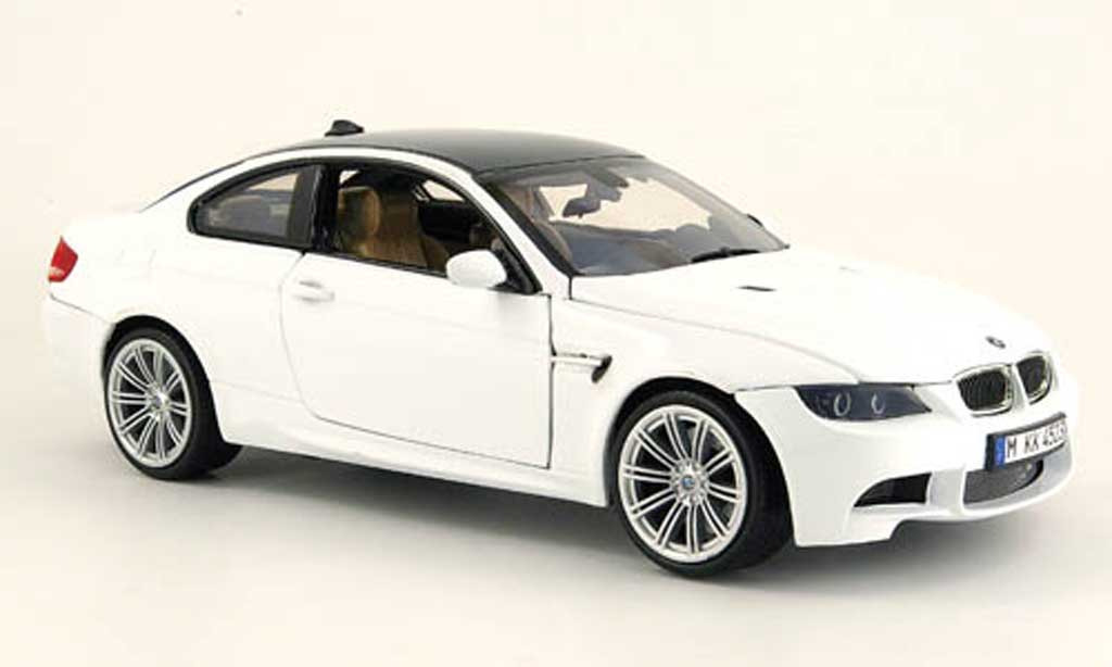 Bmw M3 E92 1/18 Motormax white dach carbonlook 2008 diecast model cars