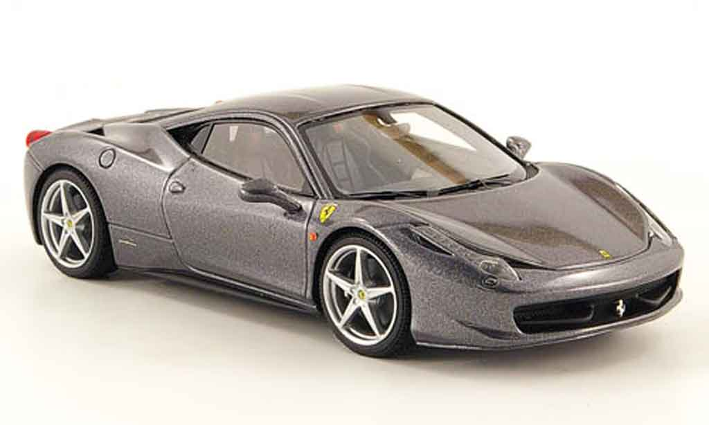 Ferrari 458 Italia 1/43 Look Smart gray 2009 diecast