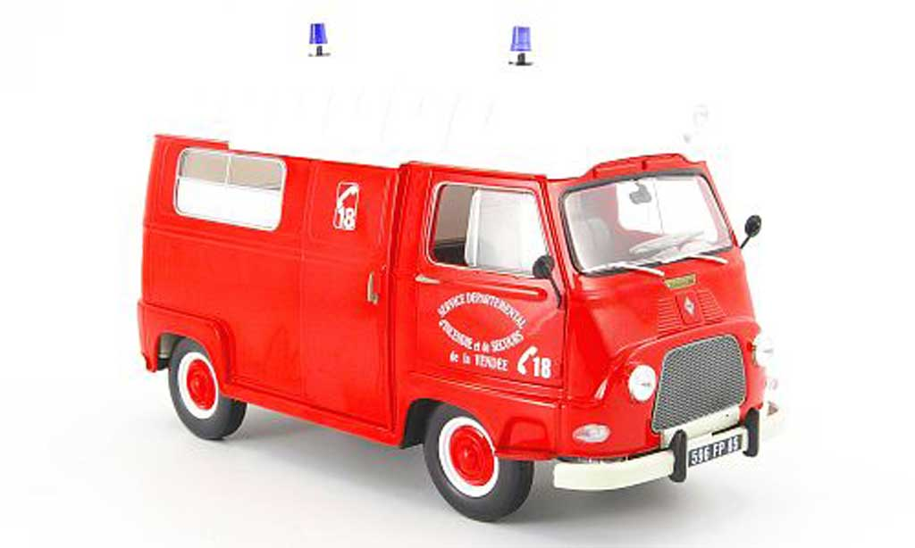 Renault Estafette 1/18 Norev pompier service departemental dincendie et de secours 1968 diecast model cars