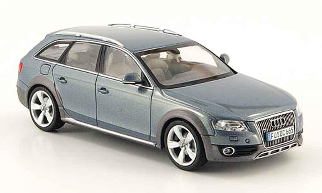 Audi A4 1/43 Schuco Allroad graubleu 2009 modellautos
