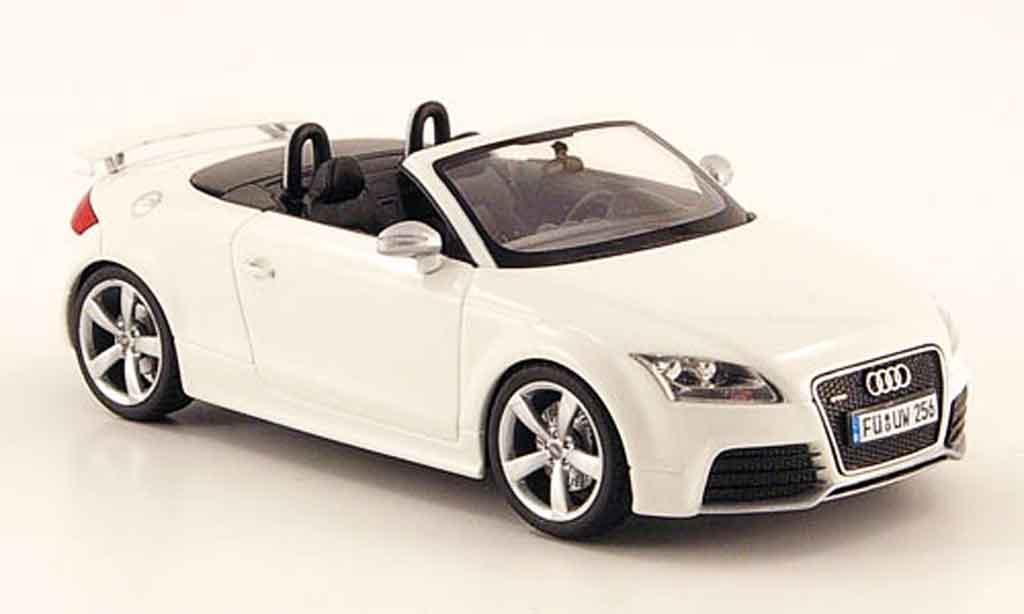 Audi TT RS 1/43 Schuco Roadster blanche 2009 miniature