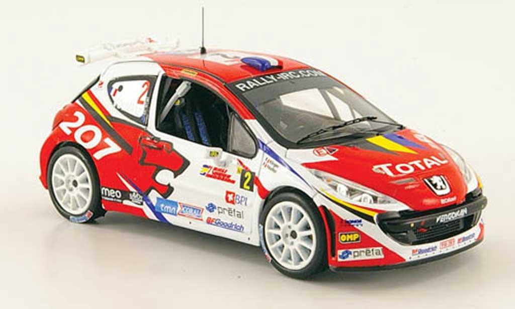 Peugeot 207 S2000 1/43 IXO No.2 Total Sieger Rally Madeira 2008 miniature