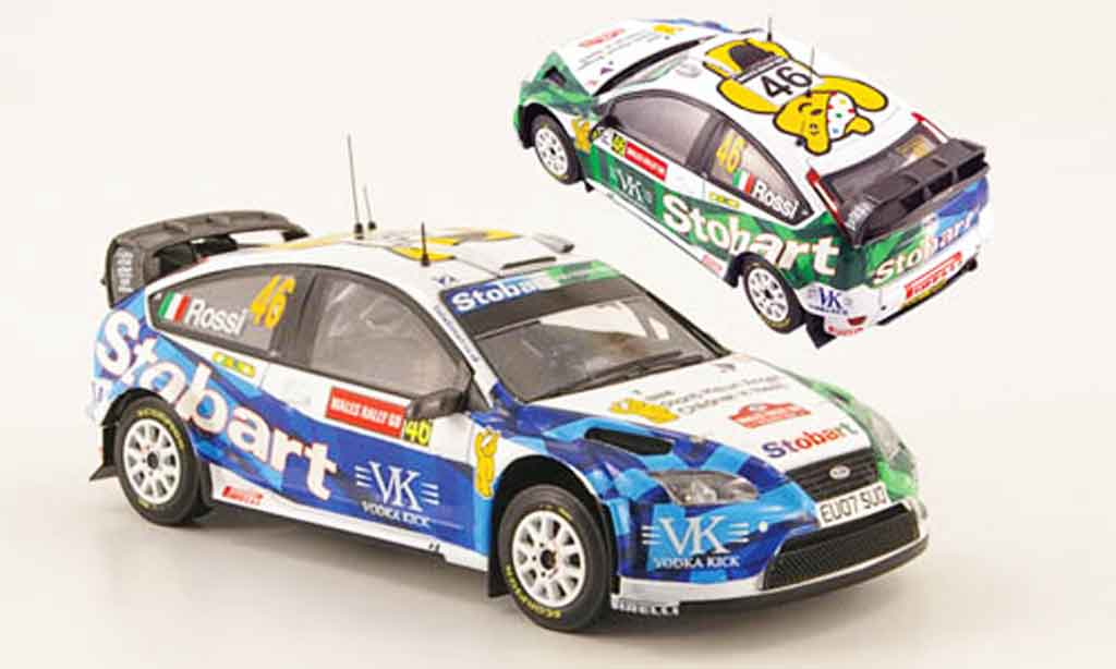 Ford Focus RS WRC 1/43 ixo 07 No.46 Rally Wales 2008 miniature