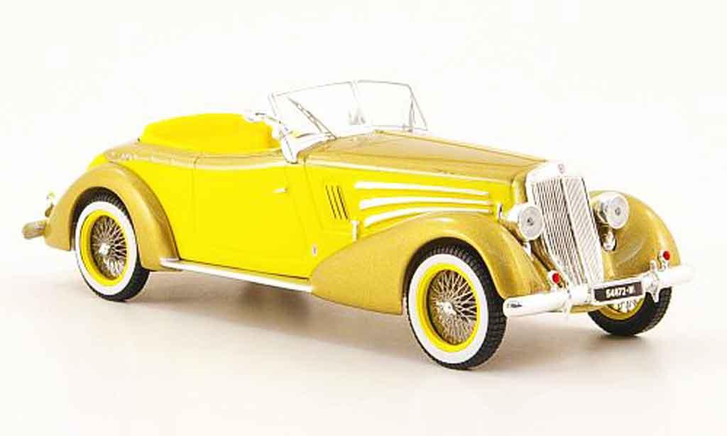 Lancia Astura 1/43 ixo pininfarina or jaune 1934 miniature