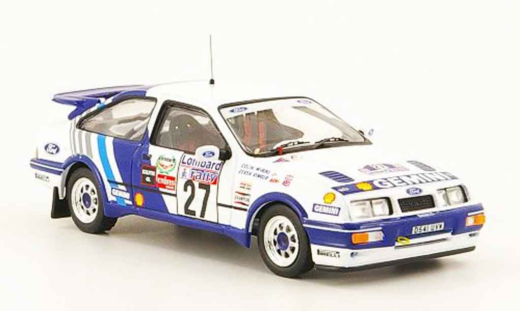 Ford Sierra Cosworth RS 1/43 ixo Cosworth No.27 Gemini RAC Rally 1989 miniature