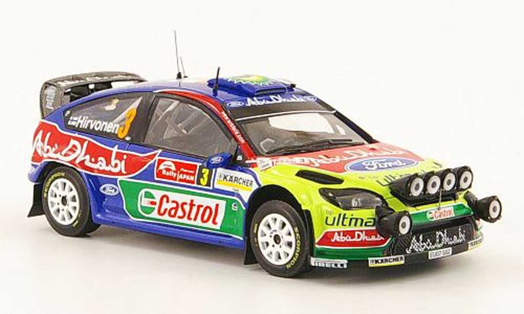 Ford Focus RS WRC 1/43 IXO  07 WRC No.3 Sieger Rally Japan 2008 miniature