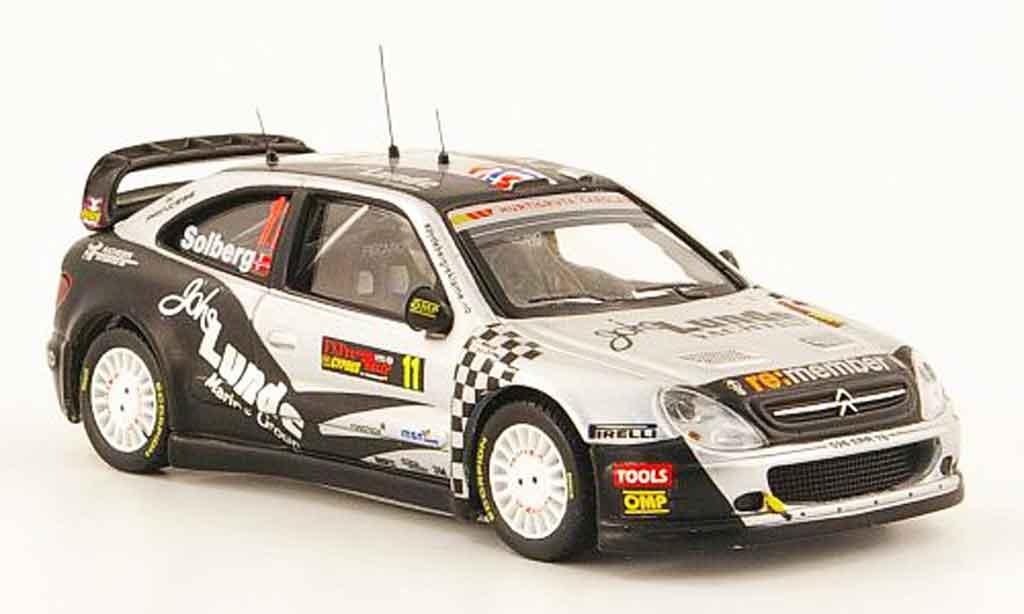 Citroen Xsara WRC 2009 1/43 ixo no.11 lunde 3. platz rallye zypern miniature
