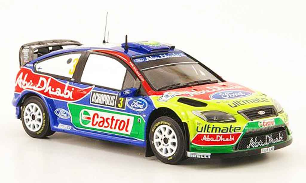Ford Focus RS WRC 1/43 ixo 09 No.3 Sieger Akropolis Rally 2009 miniature