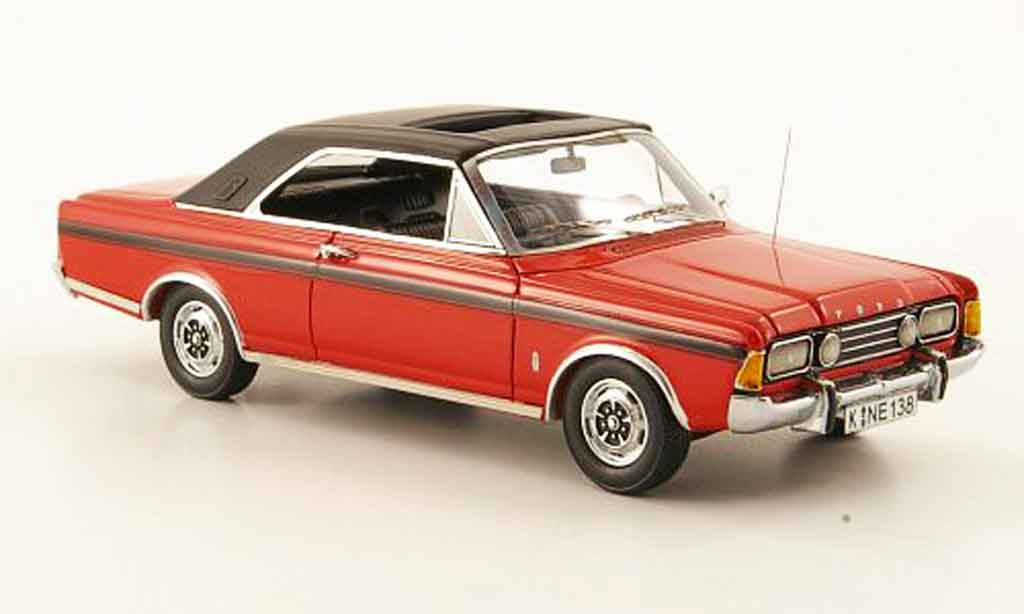 Ford Taunus 1971 1/43 Neo (P7b) 20M  Coupe rouge noire miniature