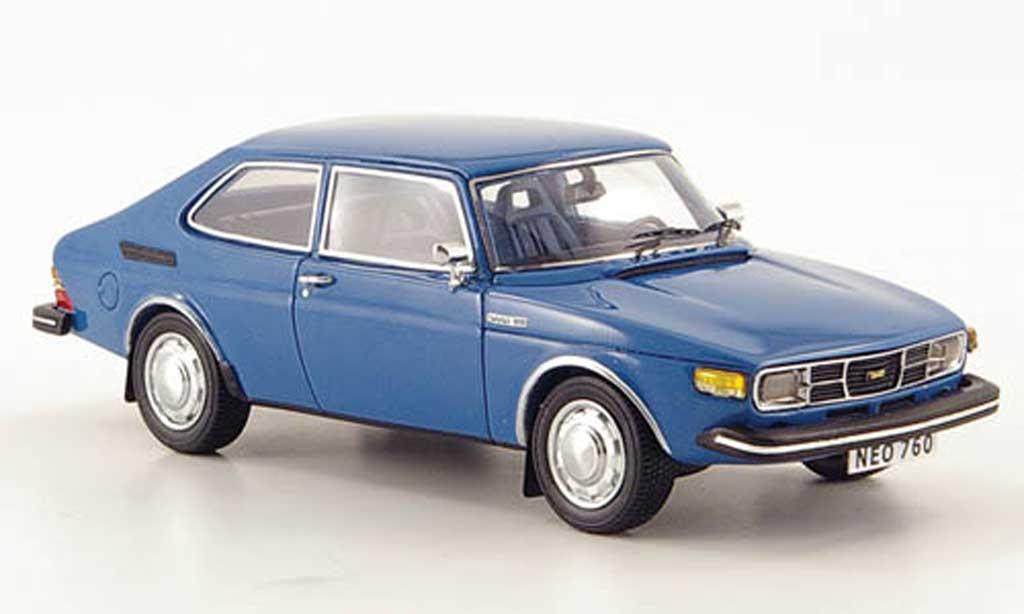 Saab 99 1/43 Neo combi Coupe bleu 1975 miniature