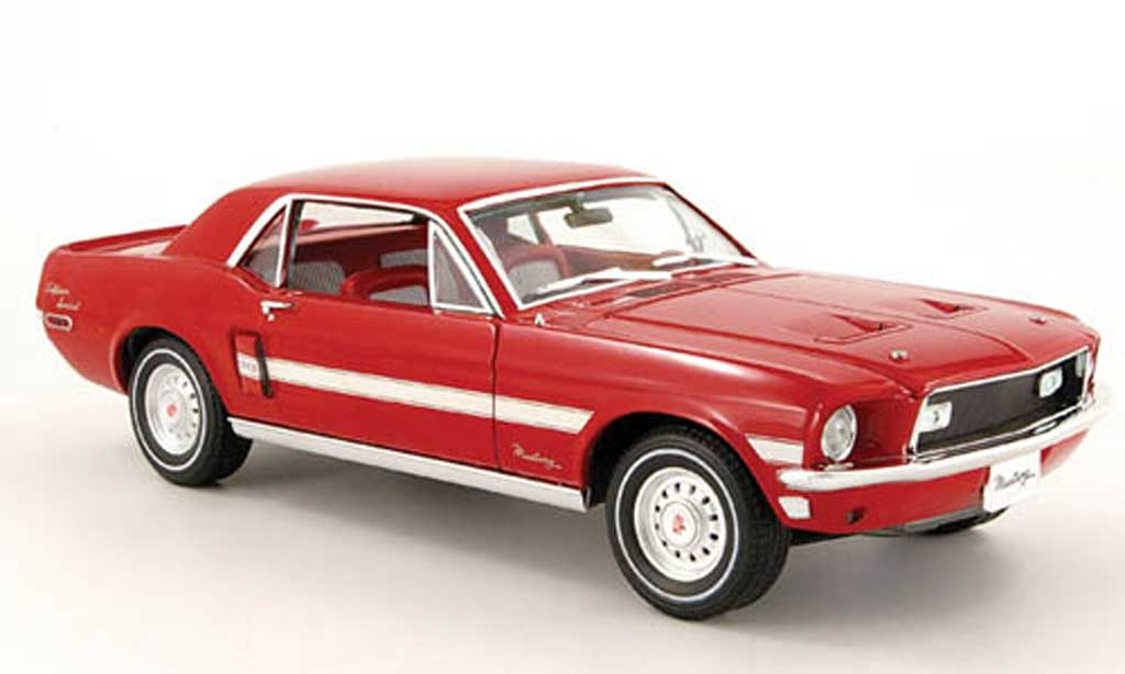 Ford Mustang 1968 1/18 Greenlight gt rot california special modellautos