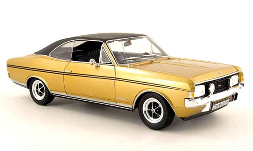Opel Commodore A 1/18 Revell gs e or noire mcw sondermodell 1970 miniature