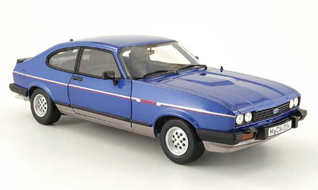 Ford Capri 1/18 Norev mk3 2.8i bleu/grise mcw 1981 miniature