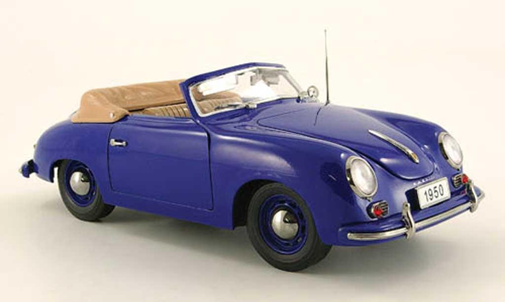 Porsche 356 1950 1/18 Signature cabriolet bleu (premium) miniature
